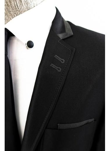 Wessi Yaka Detaylı Takım Elbise Kombini Siyah